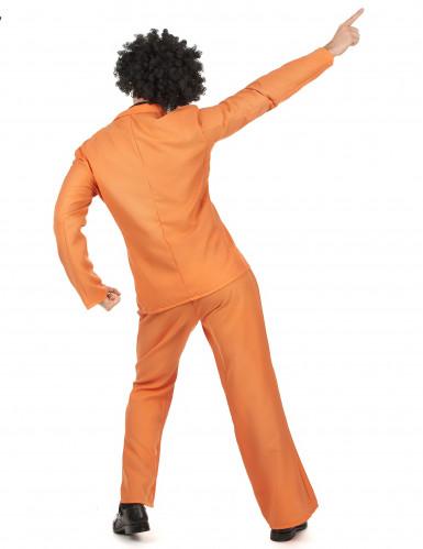 Déguisement disco orange adulte-2
