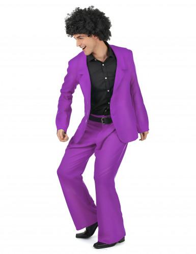 Déguisement disco violet adulte-1