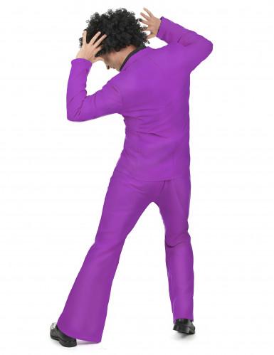 Déguisement disco violet adulte-2