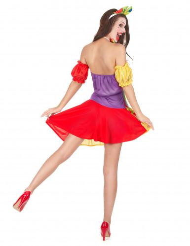 Déguisement clown bariolé femme-2