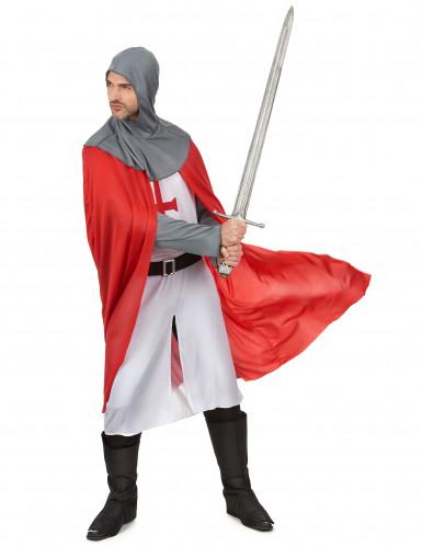 Déguisement chevalier croisé médiéval homme-1