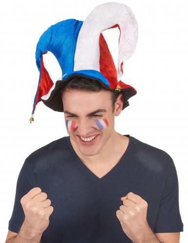 Bonnet fou du roi supporter France adulte-1