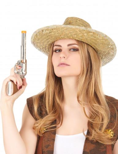 Chapeau cowboy paille adulte-2