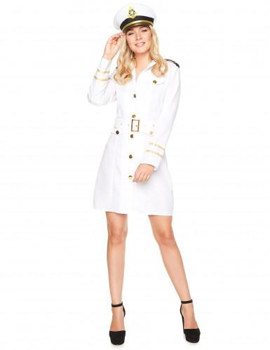 Déguisement officier marin blanc femme
