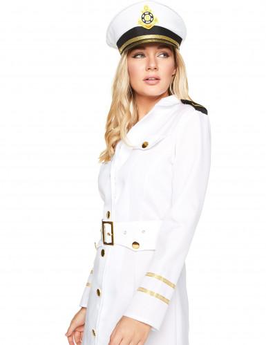 Déguisement officier marin blanc femme-2