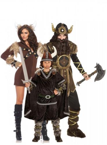 Déguisement de famille viking