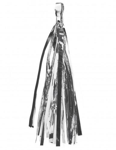 Kit guirlande tassel 24 pompons argentés, pêche, roses, menthe-1