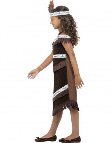 Déguisement indienne marron et blanc fille-2