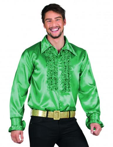 Chemise disco vert foncé homme