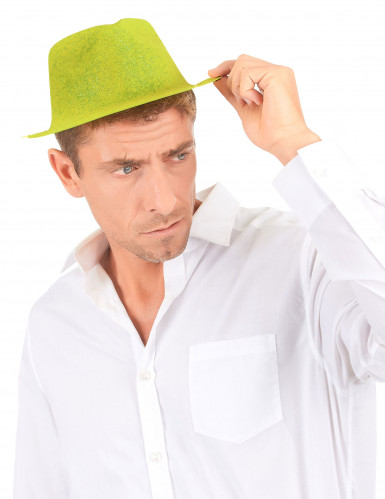 Chapeau pailleté jaune adulte-2
