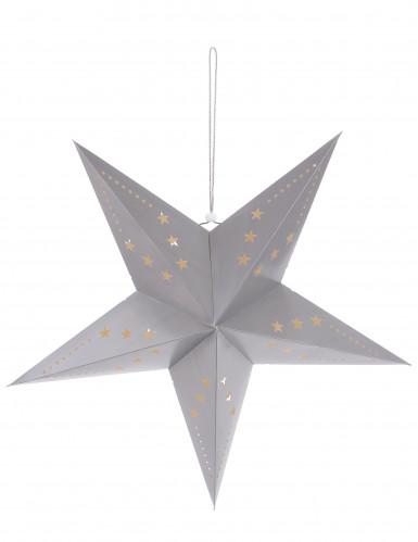Lanterne étoile grise 60 cm