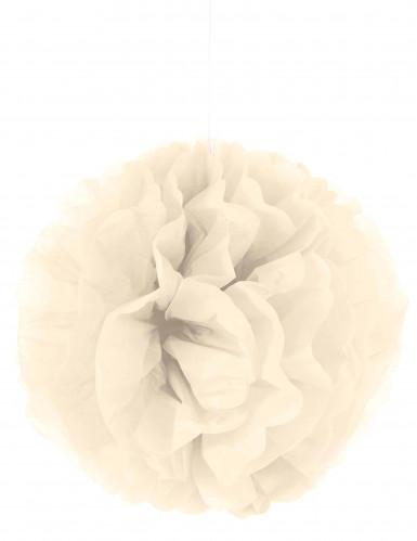 Pompon à suspendre en papier crème 35 cm