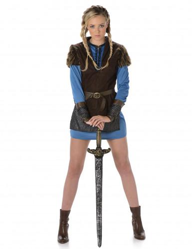 Déguisement viking bleu femme