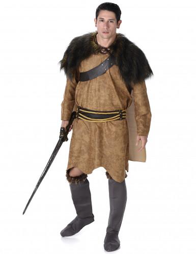 Déguisement viking marron homme