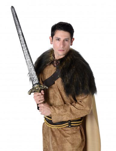Déguisement viking marron homme-1