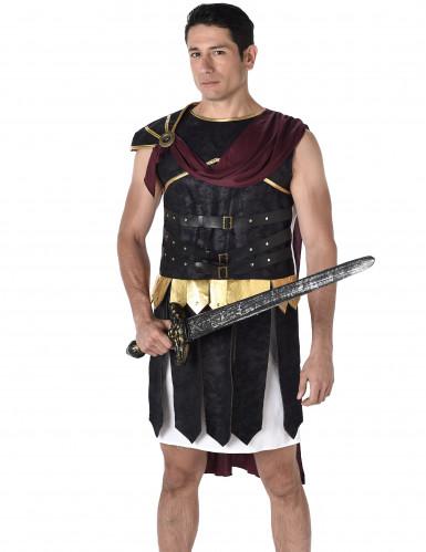 Déguisement gladiateur Romain noir et doré homme-1