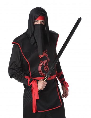 Déguisement ninja noir et rouge homme-1