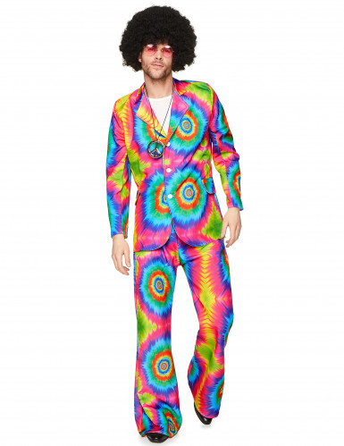 Déguisement hippie psychédélique homme-1