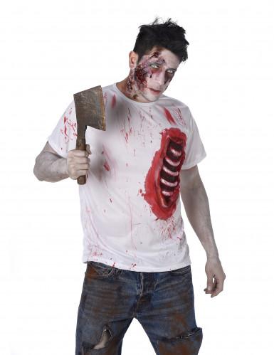 Déguisement zombie avec côtes en latex homme-1