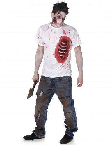 Déguisement zombie avec côtes en latex homme