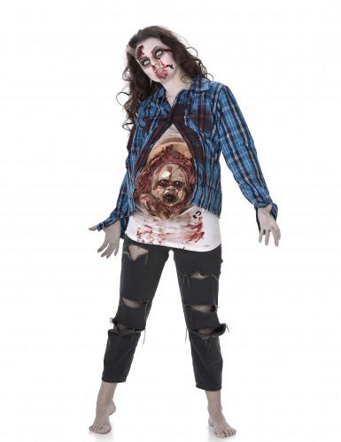 Déguisement zombiebébé en latex femme Halloween