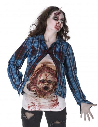 Déguisement zombie bébé en latex femme Halloween-1