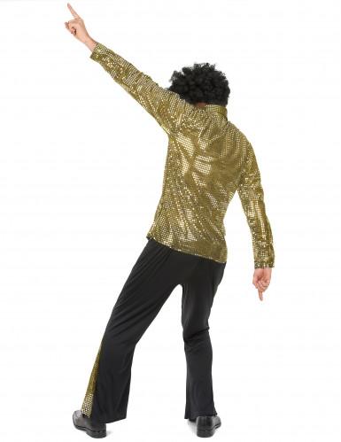 Déguisement disco doré à paillettes homme-2