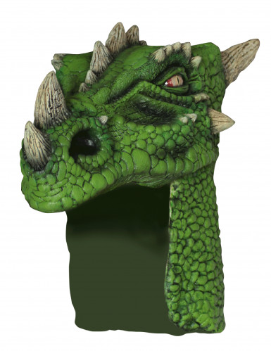 Casque dragon vert adulte