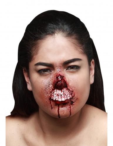 Fausse blessure lèvre supérieure arrachée adulte Halloween