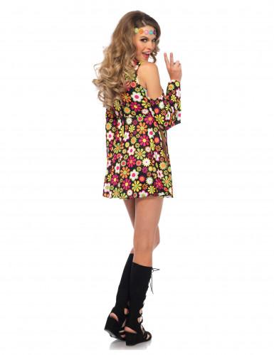 Déguisement hippie fleurie femme-1
