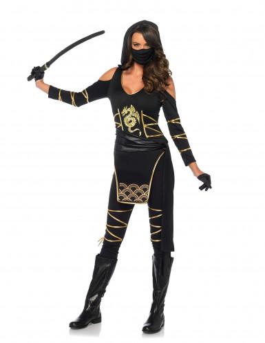 Déguisement ninja dragon d'or femme-1