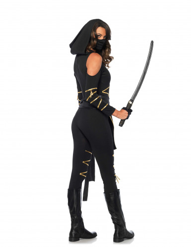 Déguisement ninja dragon d'or femme-2