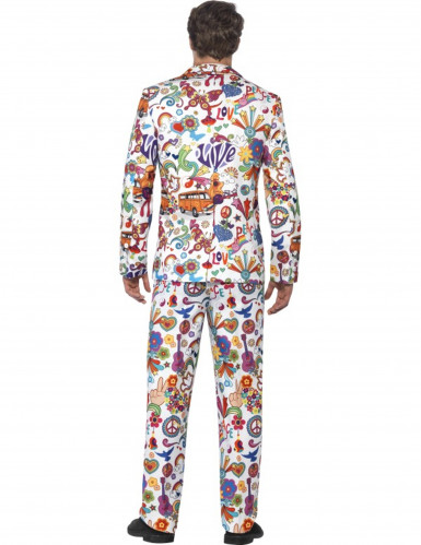Costume Mr. Groovy multicolore homme-1