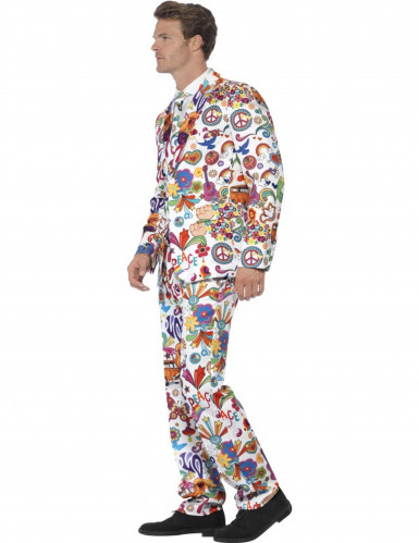 Costume Mr. Groovy multicolore homme-2