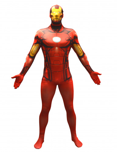 Déguisement Iron man™ adulte Morphsuits™ seconde peau