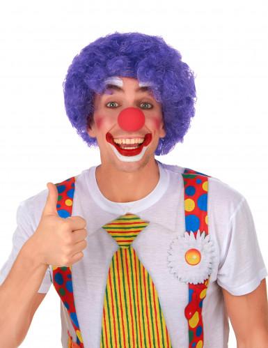 Perruque afro/clown violette standard adulte-1