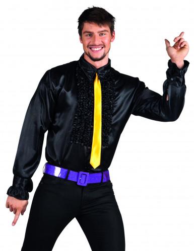 Chemise disco noire homme