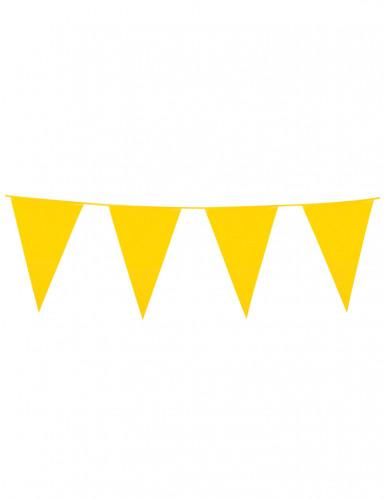 Guirlande à fanions jaunes 10m
