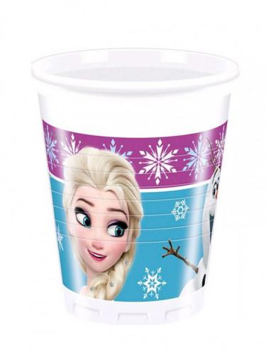8 Gobelets en plastique La Reine des Neiges Flocons™ 200ml