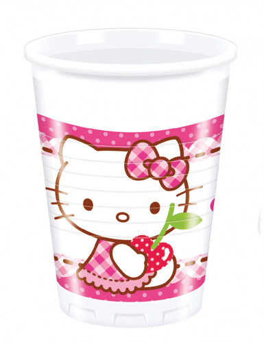 8 Gobelets en plastique Hello Kitty™ 20 cl