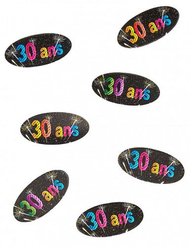80 Confettis de table en papier 30 ans feux d'artifice 4 x 2 cm