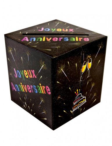 Urne joyeux anniversaire chic 20 x 23 cm