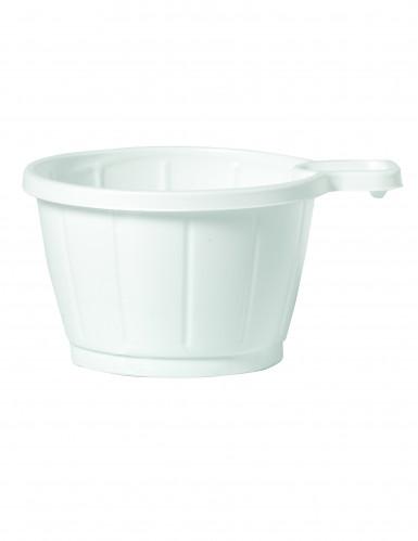 50 Tasses à café en plastique blanc 20 cl