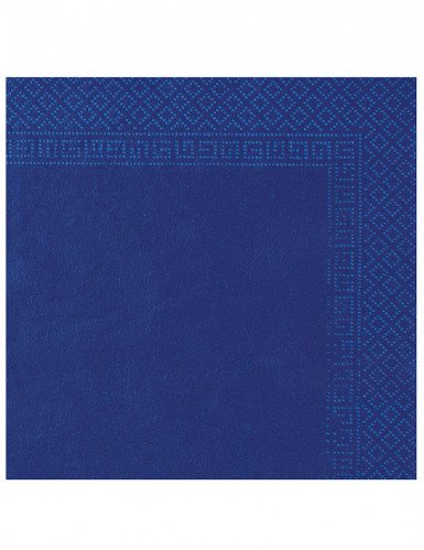 50 Serviettes bleu marine 38 x 38 cm