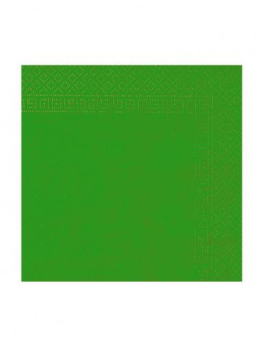 50 Serviettes vert sapin 38 x 38 cm