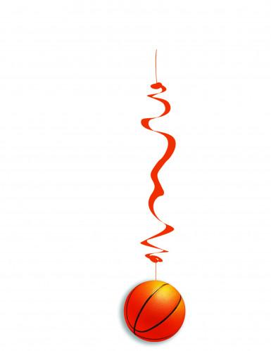 6 Suspensions papier ignifugé Ballons de basket 80 cm