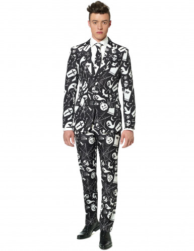 Costume Mr. Icons noir imprimé homme Suitmeister™