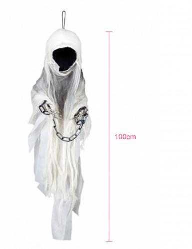 Décoration squelette faucheuse enchainé 100 cm Halloween-1