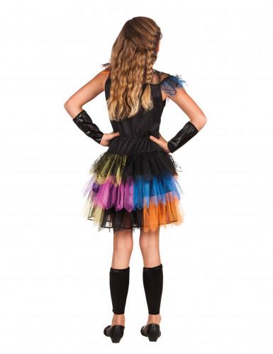 Déguisement squelette tutu coloré fille Halloween-1