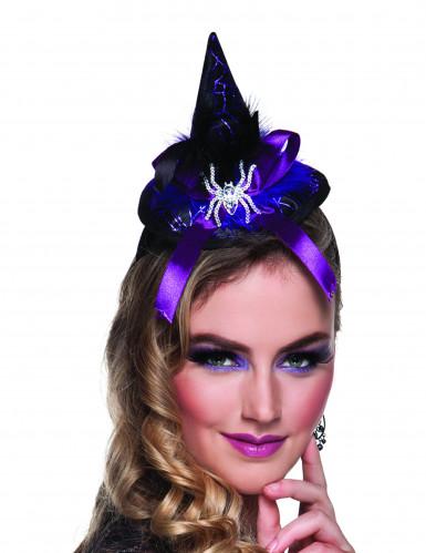 Mini chapeau sorcière araignée femme Halloween